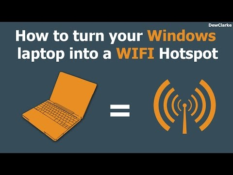 How to turn your Windows 7/8/10 Laptop or PC into a WiFi Hotspot [Updated][HD]