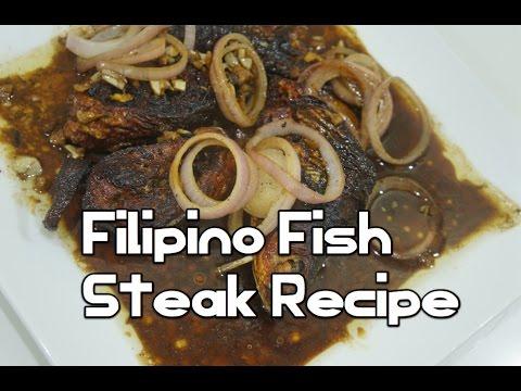 Paano magluto Filipino Fish Steak Recipe - Bangus Tagalog Isda