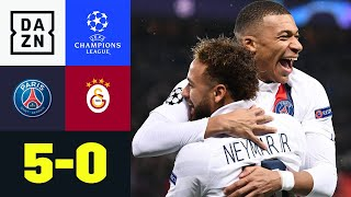 Jeder darf mal! Neymar, Mbappe & Co. souverän: PSG - Galatasaray 5:0 | UEFA Champions League | DAZN