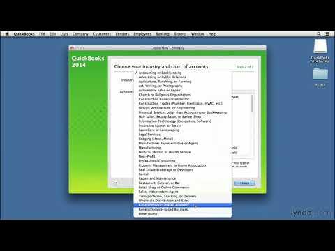 QuickBooks for Mac tutorial: Setting up a new company file   lynda.com