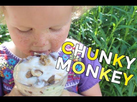 Healthy Chunky Monkey Ice Cream | Vegan Recipe