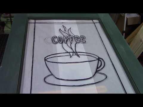 Coffee Bar from reclaimed door Part Three