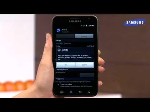 Samsung Galaxy Note - App Management