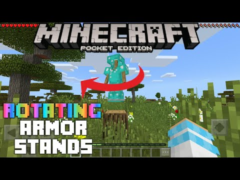 How To Make A Rotating Armor Stand In MCPE 1.2 (Tutorial) | Minecraft Pocket Edition 1.2 Build 6