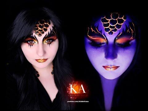Black Light Dragon Makeup Tutorial