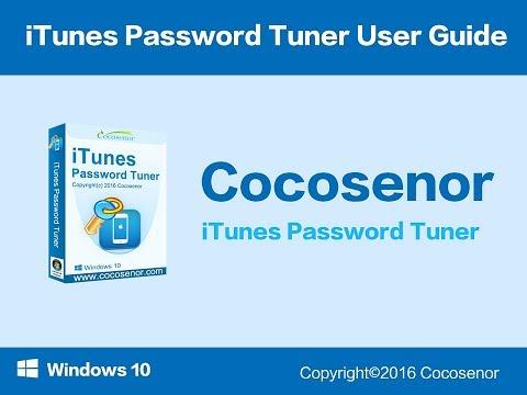 iTunes Password Tuner Guide--Recover Forgotten iTunes Backup Password