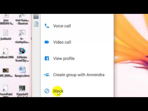 How to block a contact in Facebook messenger android app