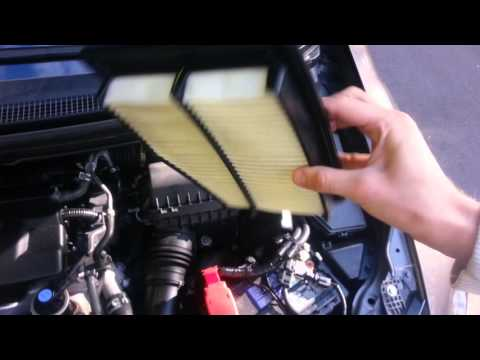How to change 12-15 Honda civic air filter