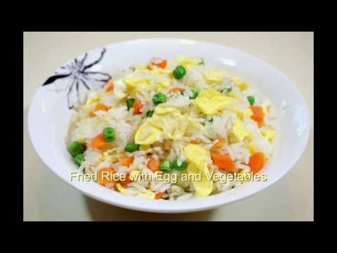 Weight loss recipe - fried Rice with egg, green peas & carrots