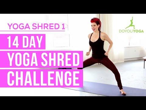Cardio Yoga for Fat Burning | Day 1 | 14 Day Yoga Shred Challenge
