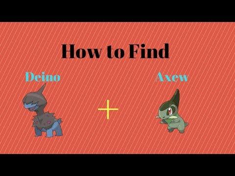 How to find Axew and Deino | Pokemon Brick Bronze