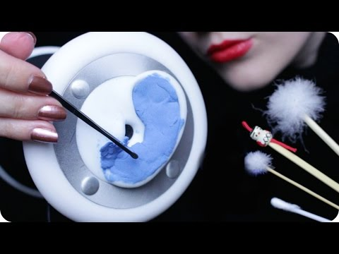 ASMR Ear Cleaning - Japanese Ear Pick, Q-tips, Cotton Pads & Scratching, Tapping Sounds (3Dio)