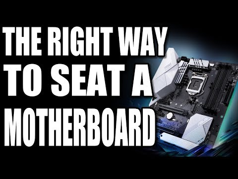 How To Seat A Motherboard Into A Case & What To Do When It Goes Wrong Corsair 200R & Asus Z370