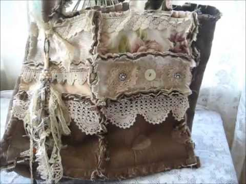 Project share Gorgeous Shabby Raggady Rag Bag:)