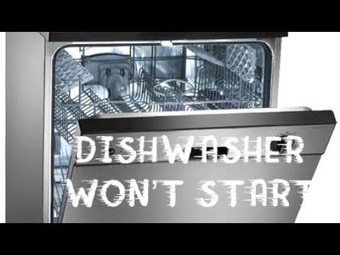 Frigidaire Dishwasher Won't Start—Ribbon Cleaning