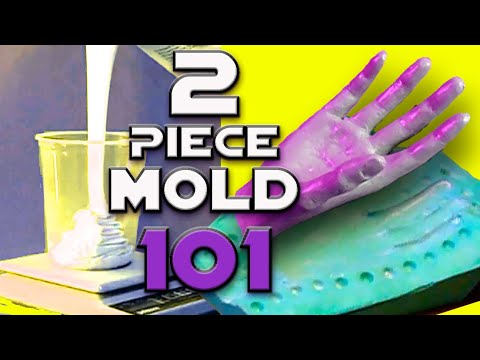 EASY! HOW TO MAKE a TWO PIECE SILICONE RUBBER MOLD