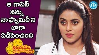 That Was The Worst Gossip - Poorna || #JayammuNischayammuRaa || Talking Movies with iDream