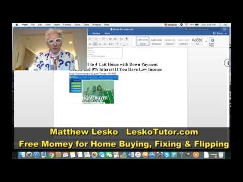 Gov't Programs and internet Money For House Buying, Fixing or Flipping