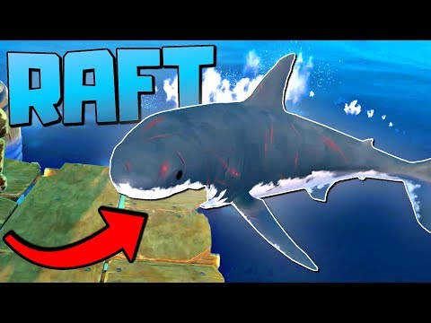 WE GET REVENGE ON THE SHARK AND EAT HIM FOR DINNER - Let's Play Raft Game / Raft Gameplay