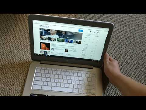 Scrolling on browser with a chromebook.  Press two fingers down and drag up or down