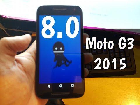 Moto G3 2015 Android 8.0 OreO Easter Egg