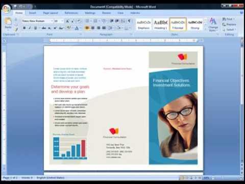 Cara Membuat Brosur di Microsoft Word 2007.flv
