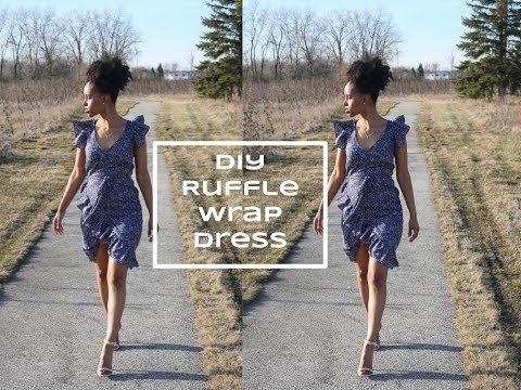 DIY [Beginner Sewing] Ruffle Wrap Dress
