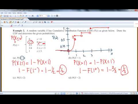 Section 4 2: CDF to Probability Values