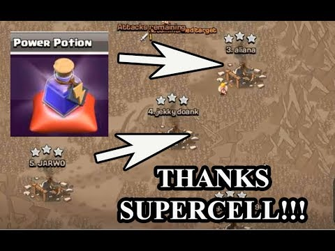 I Used Power Potion Spell In Magic Items To Clan Wars Clash of Clans Winter Update Christmas 2017