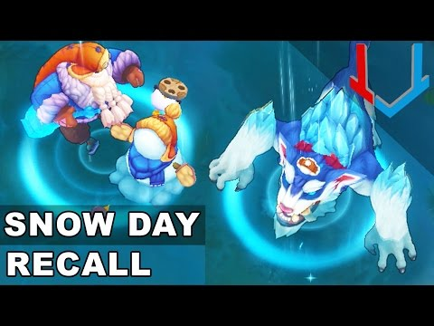 All Snow Day Skins - RECALL Animations (League of Legends)