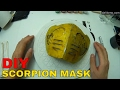 How to make Mortal Kombat Scorpion Mask - Cardboard Box Cosplay