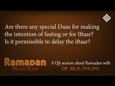 QA - Are there any special Duas for breaking the fast?