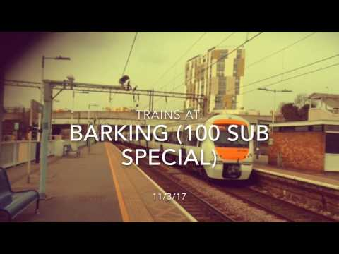 Trains at: Barking, LTS Mainline, 11/3/17 (100 Sub Special PART 1)