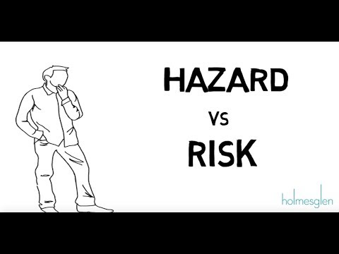 The difference between a hazard and a risk
