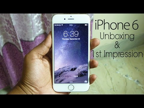 iPhone 6 (unlocked) Unboxing & 1st Impression! [ft. Galaxy S5]