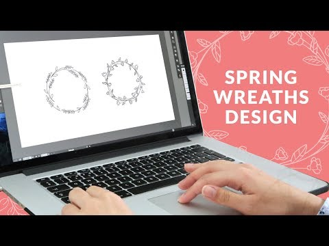 How to Design a Set of Spring Wreaths | Free Download | Curly Made