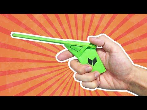 Paper Gun - How to make an easy paper gun that shoot (pistol)