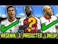 ARSENALS PREDICTED LINEUP 2018 With Potential TRANSFERS Ft Draxler NZonzi Sokratis