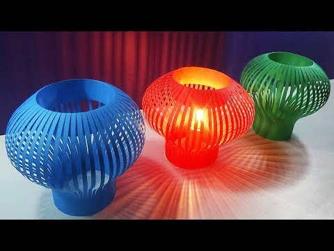 DIY Home decor - Paper Cutting Lamp/Light Shade |