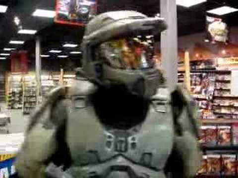 Halo 3 Costume MC Robs Store - After Humping PS3s