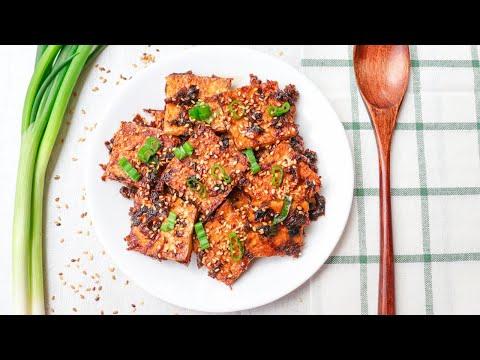 Spicy Braised Tofu || Crispy Tofu || Vegan