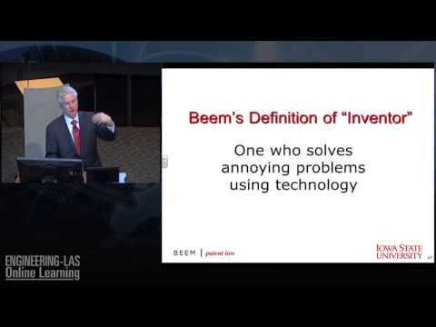 Intellectual Property & Patents: Are You an Inventor? Chicago Attorney Rich Beem at Iowa State