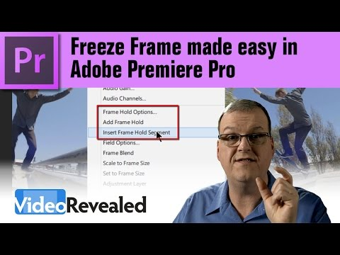 Freeze Frame made easy in Adobe Premiere Pro