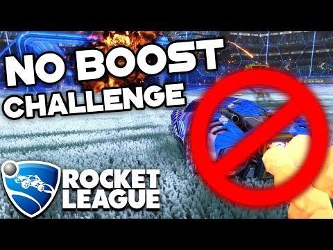 NO BOOST CHALLENGE! | Rocket League