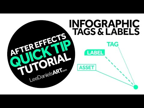 After Effects Tutorial | QUICK TIP | Infographic Tags & Labels