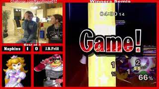 Napkins (peach) Vs. J.r.frill (captain Falcon) - Winners Semis #012