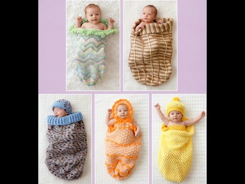 Dreamy Cocoons 6 Sacks and Caps to Crochet Preview Patterns for Baby