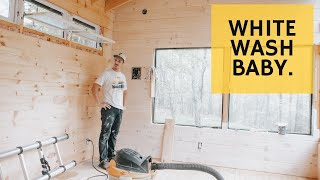 Whitewashed Cabin Walls are INSANE - Cabin Build Ep.43