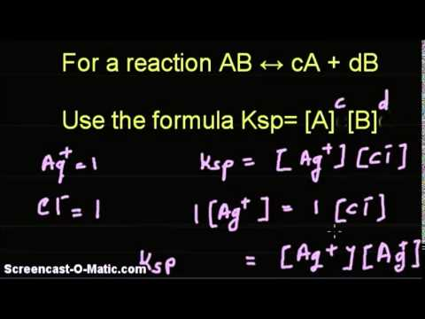 Video tutorial -Given solubility product, find solubility of AgCl and BaF2