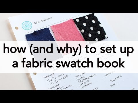 How (and Why!) to set up a Fabric Swatch Book!   Vintage on Tap